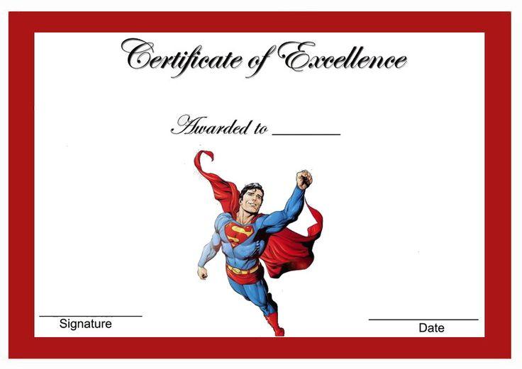 Superman Themed Award Certificates Themed Award Certificates FREE Printables Pinterest