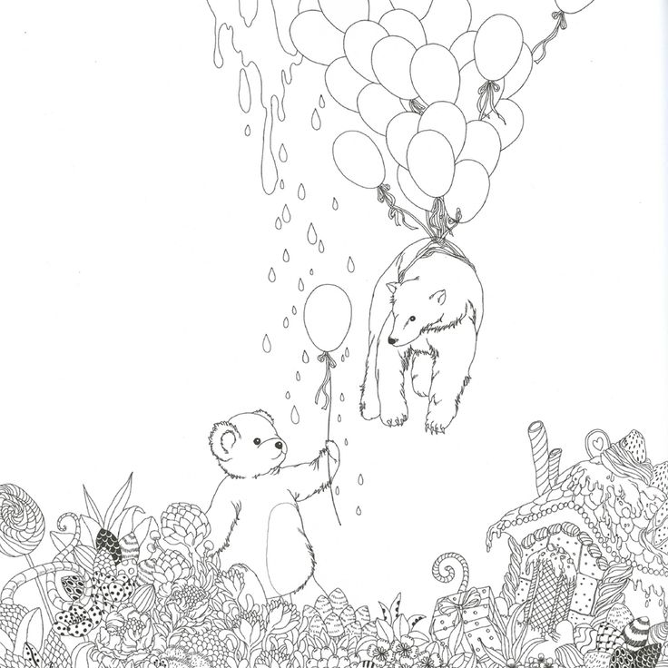 17 Best images about coloring balloon, umbrella on