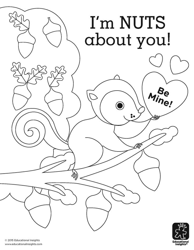 I'm NUTS about you! coloring page by Educational Insights