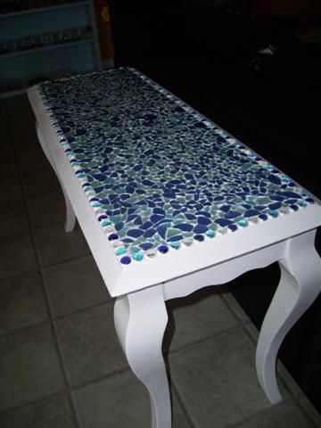 media sofa table serta meredith convertible reviews seaglass top - i want to make one of these as a bar ...