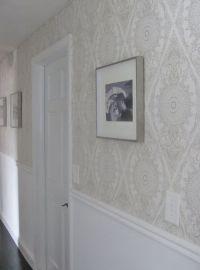 Wallpaper in Hallway | Black Pearl Interiors Wallpaper ...