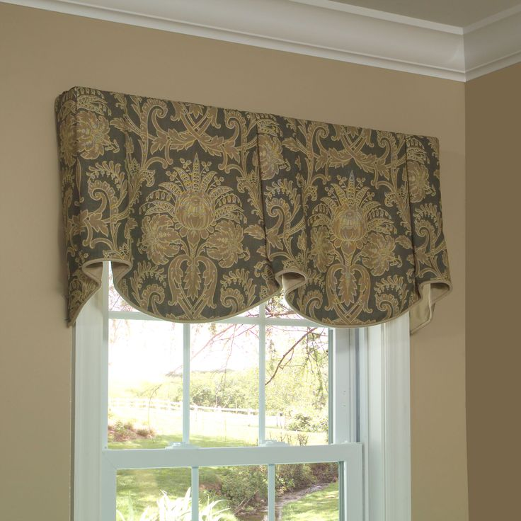 kitchen curtains for bay windows dolphin accessories sheffield valance allows you to feature two pattern motifs ...