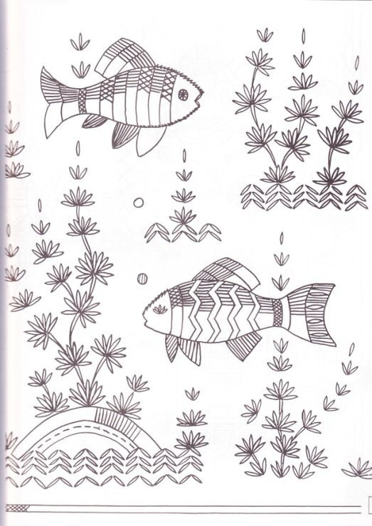 130 best images about Embroidery Fish on Pinterest