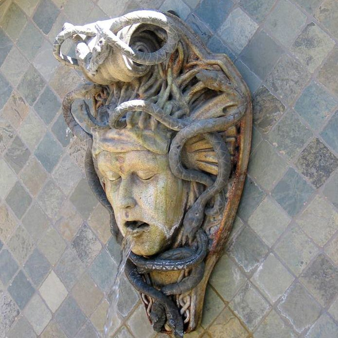 Medusa head fountain  Elements of the Garden  Fountains  Water Features  Pinterest  Medusa head
