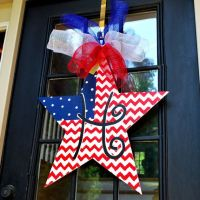 Fourth of July Door Hanger, 4th of July Wreath, Patriotic ...