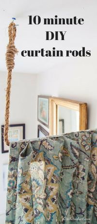 Pipe Dreams. AKA Build a DIY Curtain Rod in 10 minutes ...