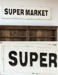 "Embossed Metal ""Supermarket"" Sign | More Pantry and Doors ..."