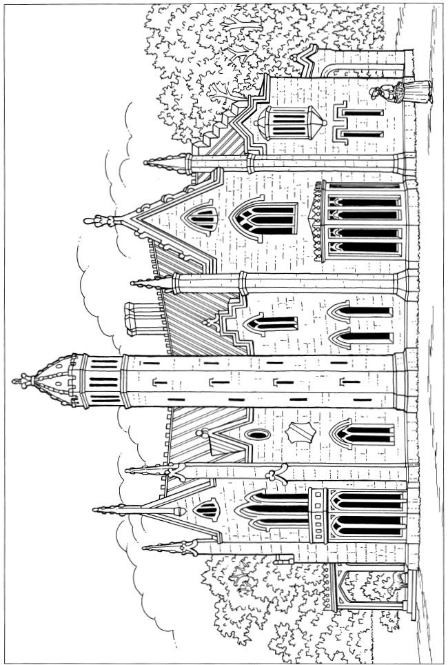 741 best images about Adult Colouring~Buildings~Houses