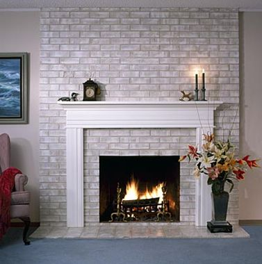 An Easy Update To The 8039s Full Brick Wall Fireplaces You