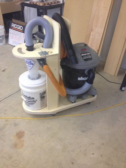 Shop Vac And Cyclone Separator Cart Workshop Tips