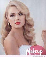 beautiful blonde hair and makeup