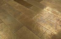 Hammered Brass Briquettes - Texture I | Flooring ...