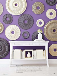 Ceiling medallions as wall art | Sandra's Living room ...