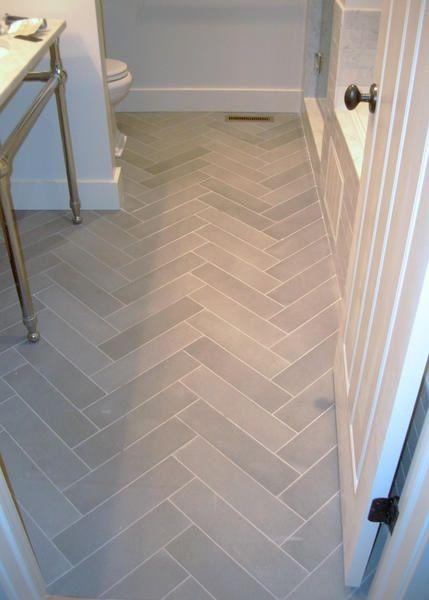 something about white marble herringbone tile. Wonder if I