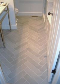 something about white marble herringbone tile. Wonder if I ...