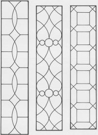 printable victorian stained glass patterns