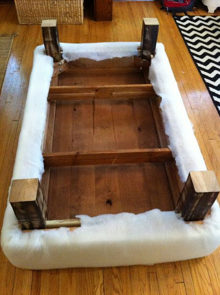 How To Turn A Coffee Table Into An Ottoman Inside Out