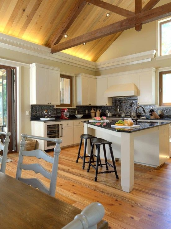 Kitchen Island With Attached Table Design Pictures