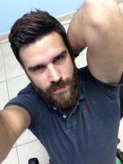 short hair with beard pat