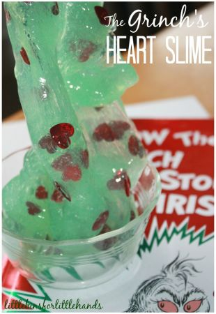 Grinch Slime Book and Sensory Play Activity for Kids: