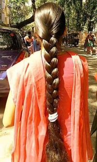 super long hair in a super thick braid! | Thick long hair ...