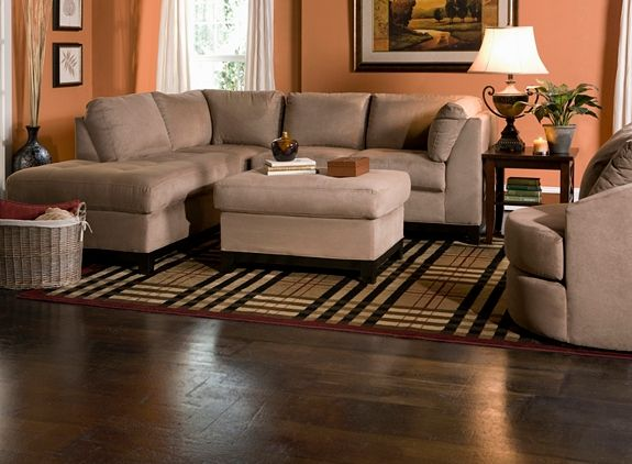 living room ideas with gray walls high chairs kathy ireland home wellsley 2-pc. microfiber sectional ...