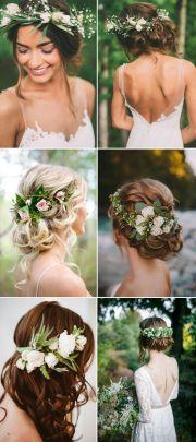 bridal flower crowns ideas