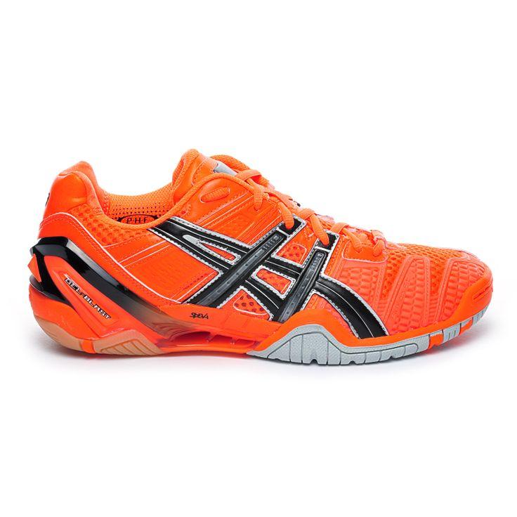 chaussures handball asics gel blast homme orange
