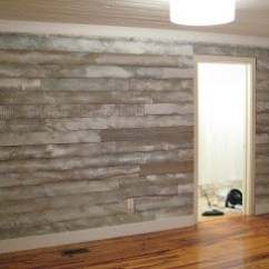 How To Put Chair Rail Molding Folding Small Distressed Wood Wall Made With Fencing Panels. New White Washed Look Old!...neat Idea ...