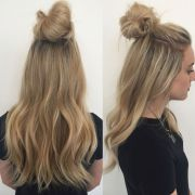 top knot extensions hair