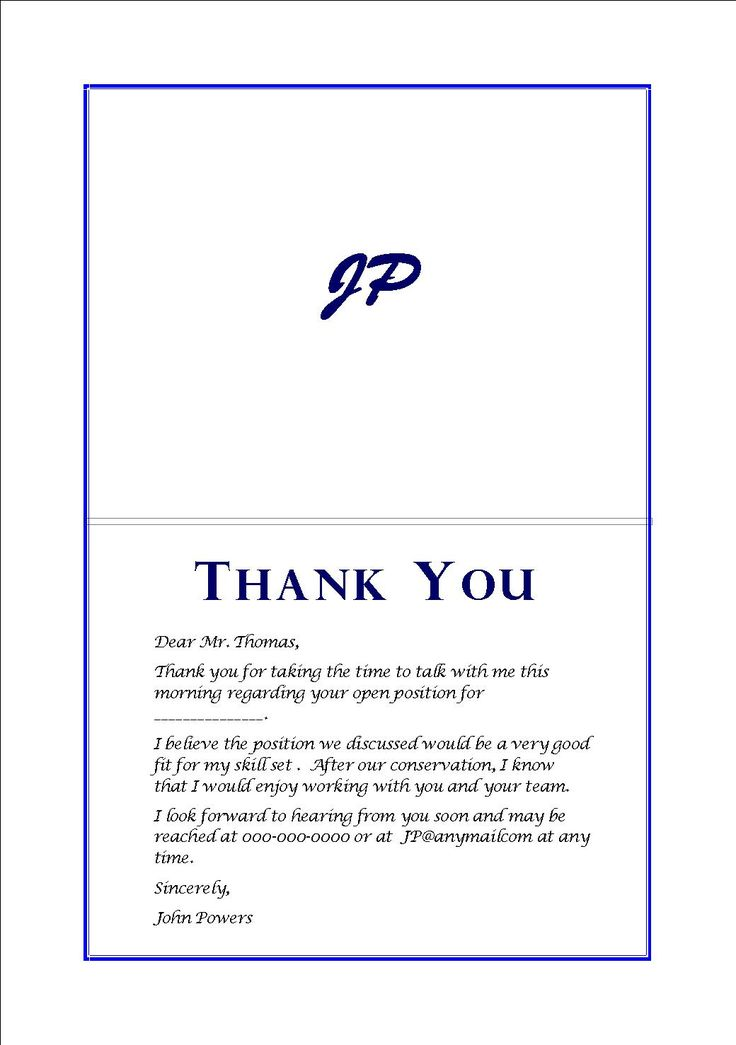 Thank You Cards After Interview  2013  Pinterest