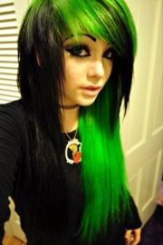 cool choppy emo hair