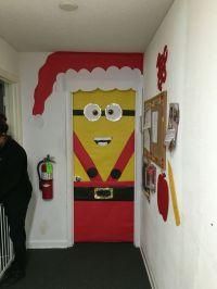Minion Christmas door decoration | Christmas | Pinterest ...
