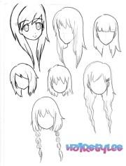 chibi hairstyles drawing
