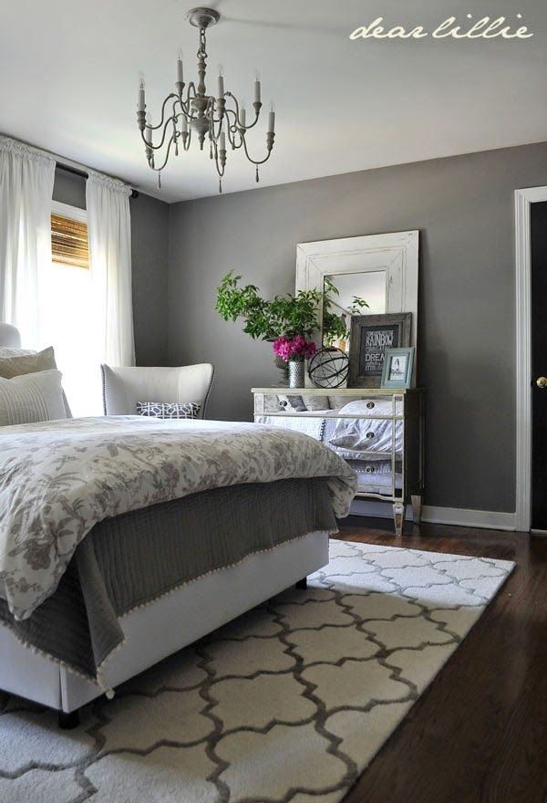Bedroom Paint Ideas Grey Some Finishing Touches To Our Gray Guest Bedroom By Rug