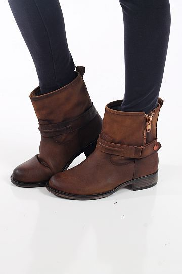 The Kerri Boot, Tan $49.00  These ankle boots are right on trend and they look super expensive! We love the zipper detailing and