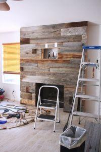 Best 25+ Reclaimed wood fireplace ideas on Pinterest
