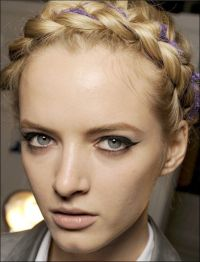 braid russian style with violet decoration | HAIR ...