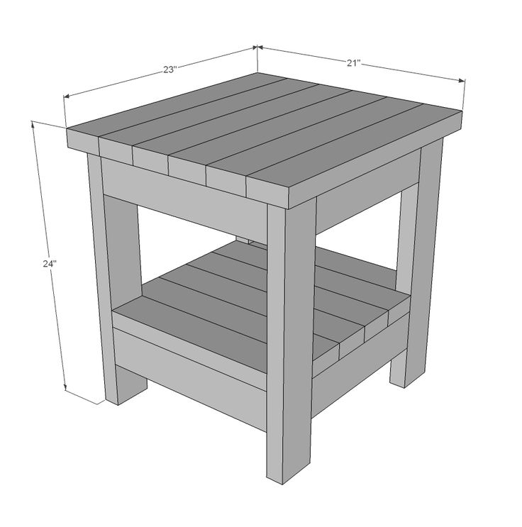 Building 2x4 End Table WoodWorking Projects Amp Plans