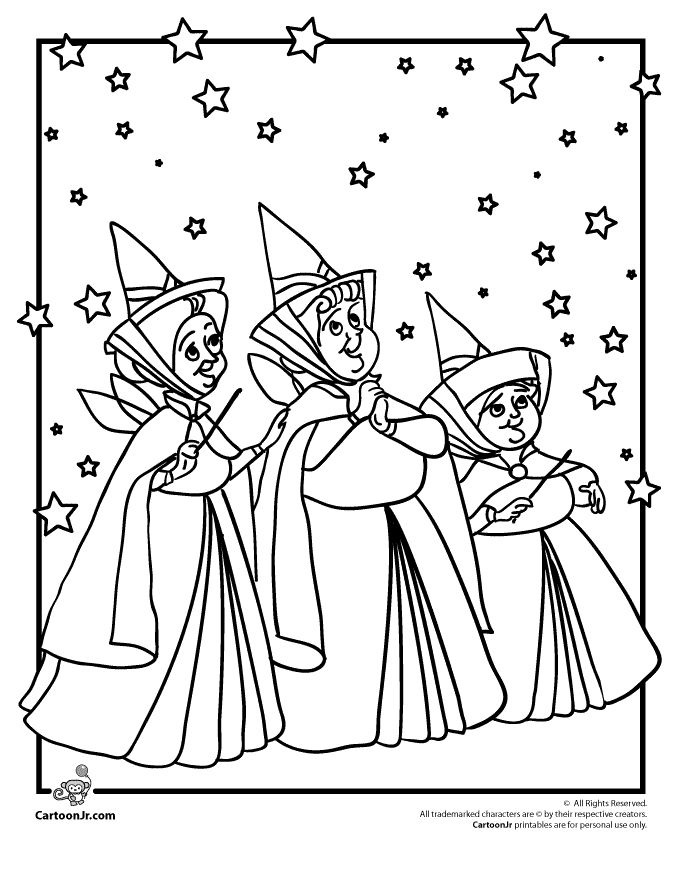 Sleeping Beauty Coloring Pages Disney's Sleeping Beauty