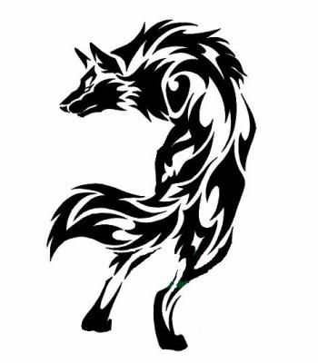 Tatouage De Loup Tribal