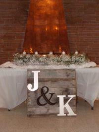 Rustic wedding sweetheart table   Double Take Designs ...