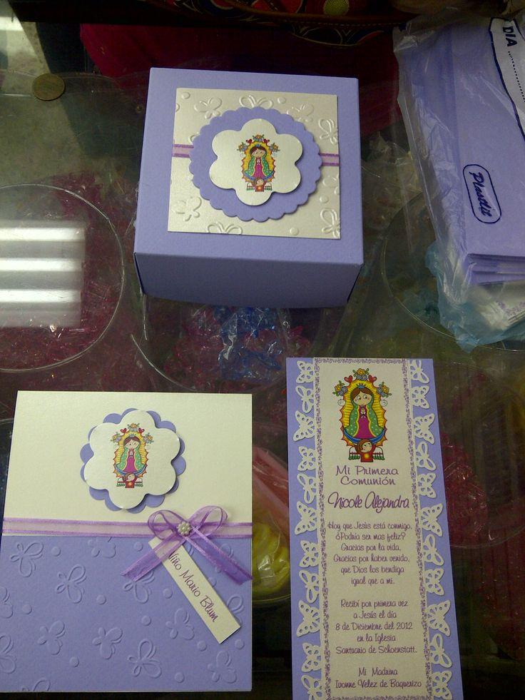 Invitaciones Caja Separador Virgen De Guadalupe