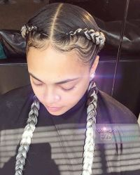 25+ best ideas about Two cornrows on Pinterest