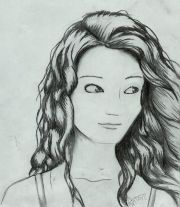 draw cartoon girl with curly
