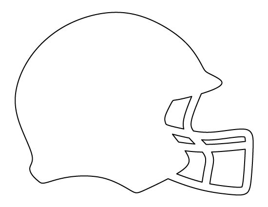 Football helmet pattern. Use the printable outline for