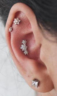 25+ best Triple Cartilage Piercing ideas on Pinterest ...