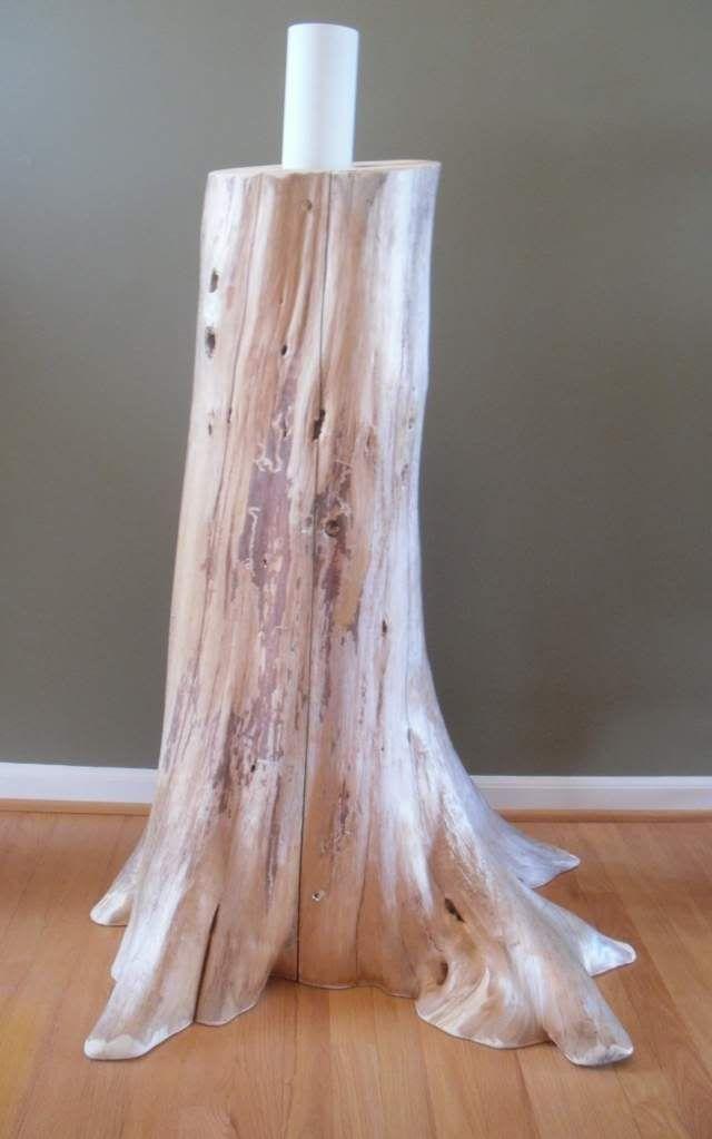 Authentic Cedar Log Basement Pole Covers Support Post Wrap