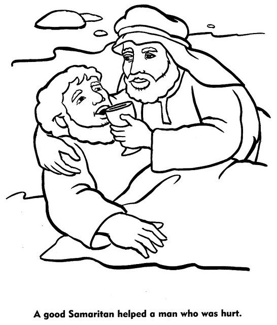 Free coloring pages of the samariter