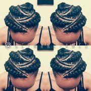 ghana braids feed in cornrows